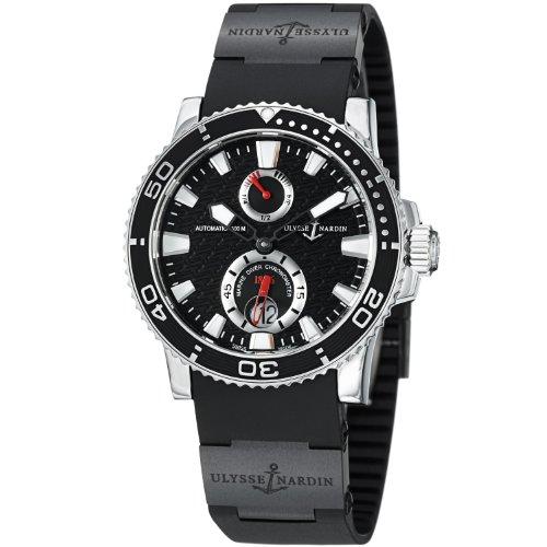 Ulysse Nardin Maxi Marine Diver Black Dial Mens Watch 263-33-3C-82