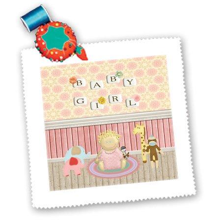 Monkey Girl Baby Shower Invitations