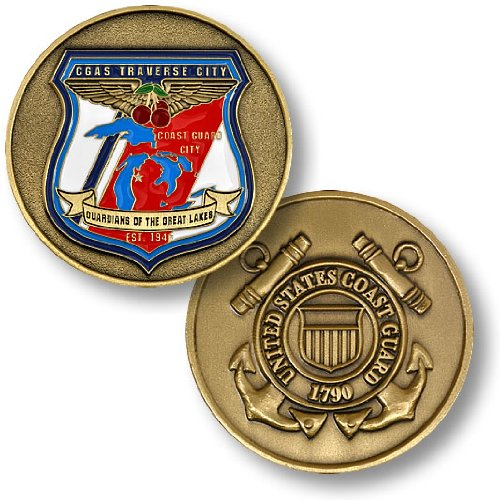 USCG Air Station Traverse City Challenge Coin
