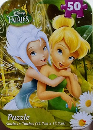 Collectible Miniature Puzzle in Travel Tin- Disney Fairies - 50 Pieces - 1
