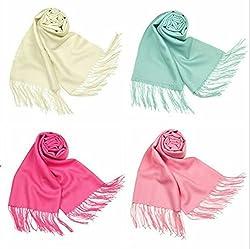 Letz Dezine Viscose set of four multicoloured stoles; scarf and stoles for women