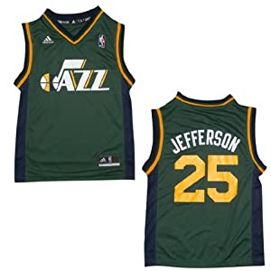 NBA UTAH JAZZ JEFFERSON #25 Youth Pro Quality Athletic Jersey Top by NBA