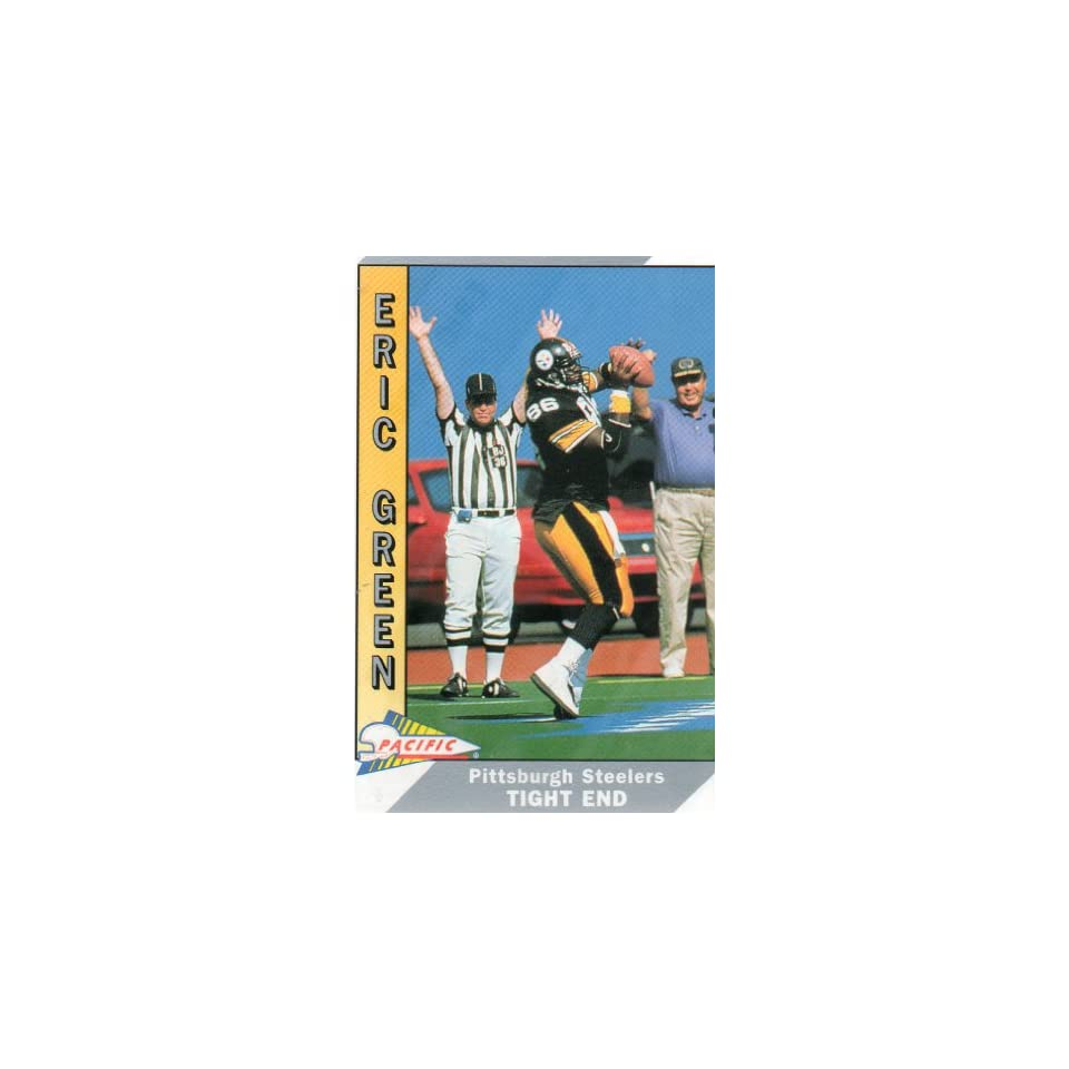 1991 Pacific, #422, ERIC GREEN, Tight End, 86, Pittsburgh Steelers, Team NFL, Pacific Trading Cards, Inc.