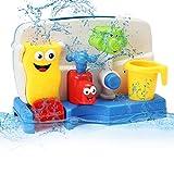 FUNTOK Creative Cartoon Portable Bath Tub Toy Water Sprinkler System With Sucker Early Education Interactive Bathroom Toys