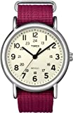 Timex Women's T2N652 Weekender Fushia Slip Thru Nylon Strap Watch