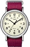 Timex Unisex T2N652 Weekender Fuchsia Nylon Strap Watch