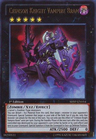 Yu-Gi-Oh! - Crimson Knight Vampire Bram (SHSP-EN054) - Shadow Specters - 1st Edition - Ultra Rare