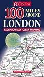 Carte routi�re : 100 Miles Around Lon...