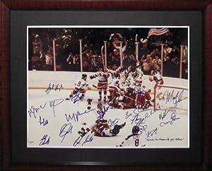1980 USA Olympic Hockey Team Signed JSA Framed Photo-16x20 by NHL