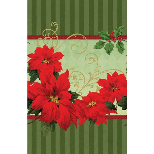 Amscan BB579543 Vintage Poinsettia Table Cover -Each