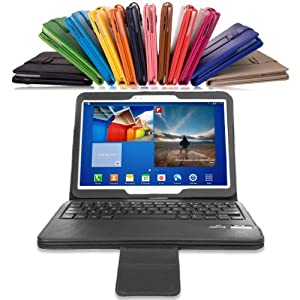 MoKo Samsung Galaxy Tab 3 10.1 Keyboard Case - Wireless Bluetooth Keyboard Cover Case for Samsung Galaxy Tab 3 10.1 Inch Android Tablet, BLACK