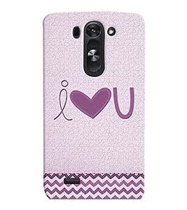 PrintVisa I Love You 3D Hard Polycarbonate Designer Back Case Cover for LG G3 BEAT