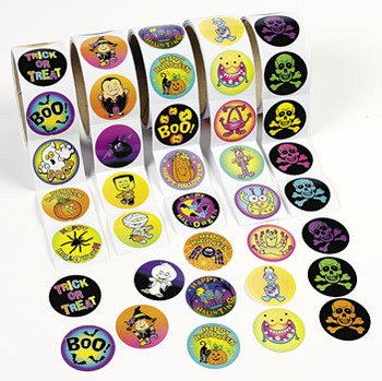 DELUXE HALLOWEEN SPOOKY STICKER ASSORTMENT - 500 STICKERS!