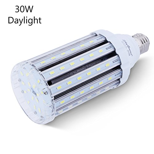 30W Daylight LED Corn Light Bulb for Indoor Outdoor Large Area - E26 Socket 3000Lm 6500K,for Home Street Lamp Post Lighting Garage Factory Warehouse High Bay Barn Porch Backyard Garden Super Bright (Bright Garage Led Lights compare prices)