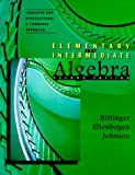 Elementary & Intermediate Algebra, Concepts and Applications: A Combined Approach (2nd Edition) (0201768046) by Bittinger, Marvin