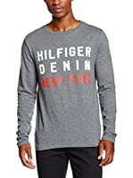 Hilfiger Denim Camiseta Manga Larga (Gris)
