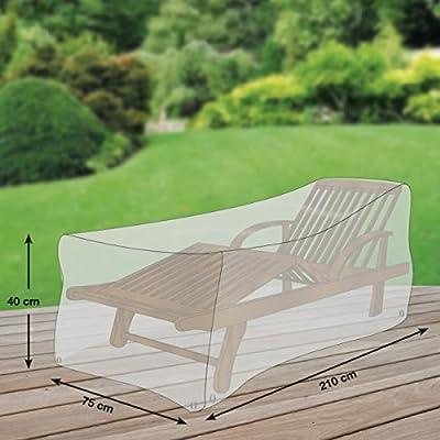 Klassik Schutzhülle für Sonnenliege/Gartenliege aus PE-Bändchengewebe - transparent - von 'mehr Garten' - Standardgröße