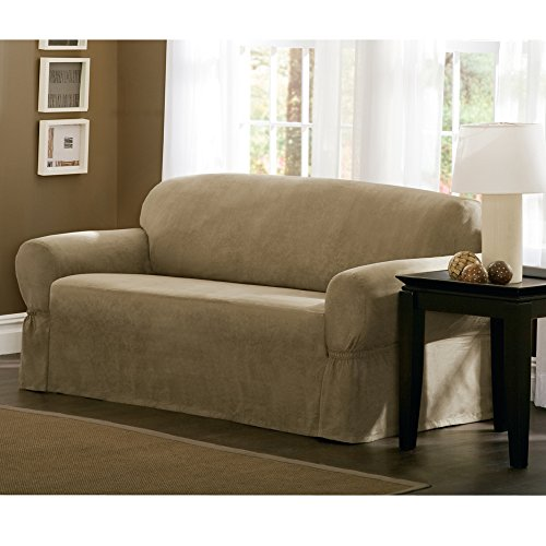 Maytex 1 Piece Faux Suede Lovseat Slipcover Tan Home