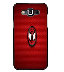 PrintDhaba Spider Logo D-1699 Back Case Cover for SAMSUNG GALAXY GRAND 3 (Multi-Coloured)