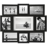 Malden Array Black Wood 9-Opening Puzzle Collage Picture Frame
