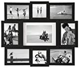 Malden International Designs Array Puzzle Collage Picture Frame, 9 Option, 2-4x4 & 6-4x6 &1-5x7, Black