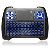 ANEWKODI T16 Backlit Wireless Mini Keyboard with Touchpad Mouse Remote Control Best for Smart TV, PC, PAD, Google Android TV Box, HTPC, IPTV, XBOX, Support Windows 10 and More(Updated 2017)