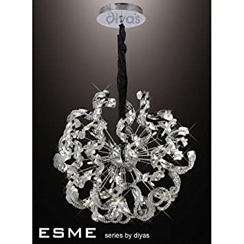 Esme Ceiling 20 Light Polished Chrome/Crystal   «Best Price