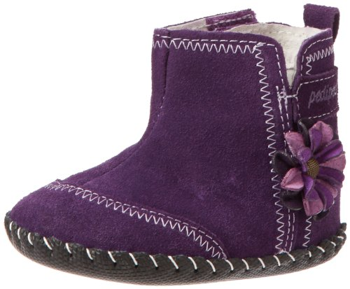 Pediped Originals Gina Boot (Infant/Toddler),Eggplant,Small (6-12 Months) E Us Infant front-697064