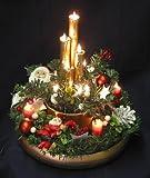 Christmas Santa Lighted Centerpiece