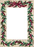 Holly Garland Boxed Photo Holder Cards (Holiday Greeting Cards)