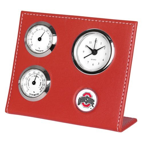 NCAA Ohio State Buckeyes Scarlet Weather Clock