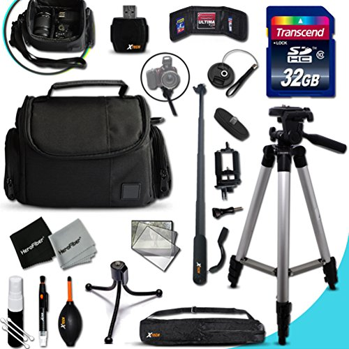 Xtech CANON POWERSHOT Accessories KIT for Canon PowerShot G3X G3 X, G7X G7 X, G1X G1 X, G1 X Mark II, G1 X,G15, G16, SX710 HS, D30, D20, SX610 HS, SX410 IS, SX600 HS, SX700 HS, SX520 HS, SX510 HS, SX40 HS, SX280 HS, SX270 HS, SX260 HS, SX500 IS, S200, S120, N, N100, SX240 HS, SX260 HS, A2400 IS, A3400 IS, A4000 IS, S110, SX170 IS, SX160 IS, SX500 IS, A810, A1300, A2300 Digital Cameras Includes: 32GB High Speed SD Memory Card + Pro Grade 60' inch Tripod + Well Padded Camera Case + 3 in 1 Monopod + MORE (Canon G1x Ii compare prices)