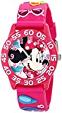 Disney Kids' W001523 Disney Minnie Mouse 3D Plastic Watch, Pink 3D Plastic Strap, W001523 Analog Display Analog Quartz Pink Watch