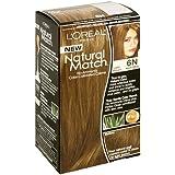 L'Oreal Natural Match No-Ammonia Color-Calibrated Creme, Light Brown, 6N Natural