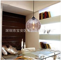Restaurant round ball glass chandeliers diameter 25cm