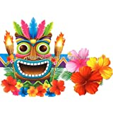 1/4 Sheet ~ Summer Hawaiian Tiki Torch & Mask Birthday ~ Edible Image Cake/Cupcake Topper!!!