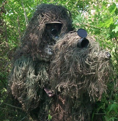 Paintball Ghillie Poncho Tracker Suit