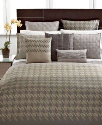 Hotel Collection Bedding, Modern Houndstooth King Sham Bedding back-79045