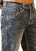 B. Tuff Western Jeans Mens Torque Bootcut Rlx Med Wash MTRQUE