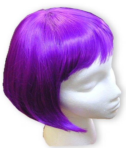 Purple Colored Bob Wigs - Purple Wig
