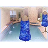 It Figures! Slender Thighs Collection Princess Seam Batik Print Swimdress Swimsuit RETAIL VALUE $109