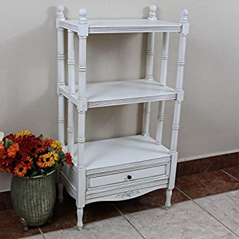 Windsor Bookshelf in Antique White Finish