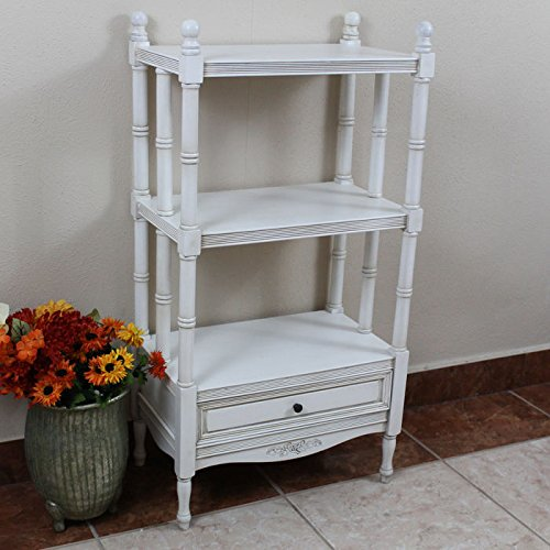 Windsor Bookshelf in Antique White Finish 0