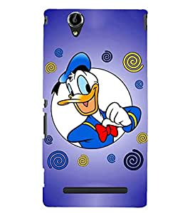 Printvisa donald duck in blue background Back Case Cover for Sony Xperia C3 Dual D2502::Sony Xperia C3 D2533