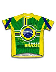 Brazil Short Sleeve Cycling Jersey for Women