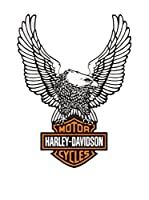 Artopweb Panel Decorativo Harley Davidson Eagle Legno