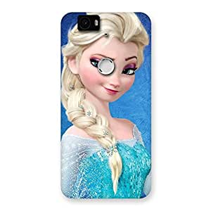 Princess Wink Back Case Cover for Google Nexus-6P