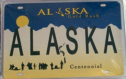 Alaska Gold Rush Plate Playing Cards Deck Novelty Clear Box - 1