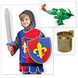 Melissa & Doug Knight Costume with Inflatable Dragon Set of 3 Items