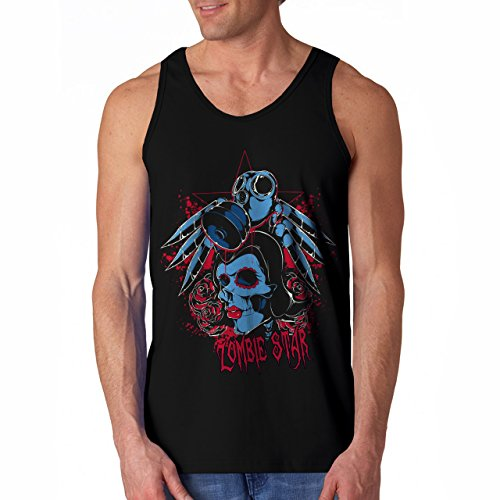 Wellcoda | Zombie Star Ghosts Monsters Mens NEW Tank Top Black S-2XL